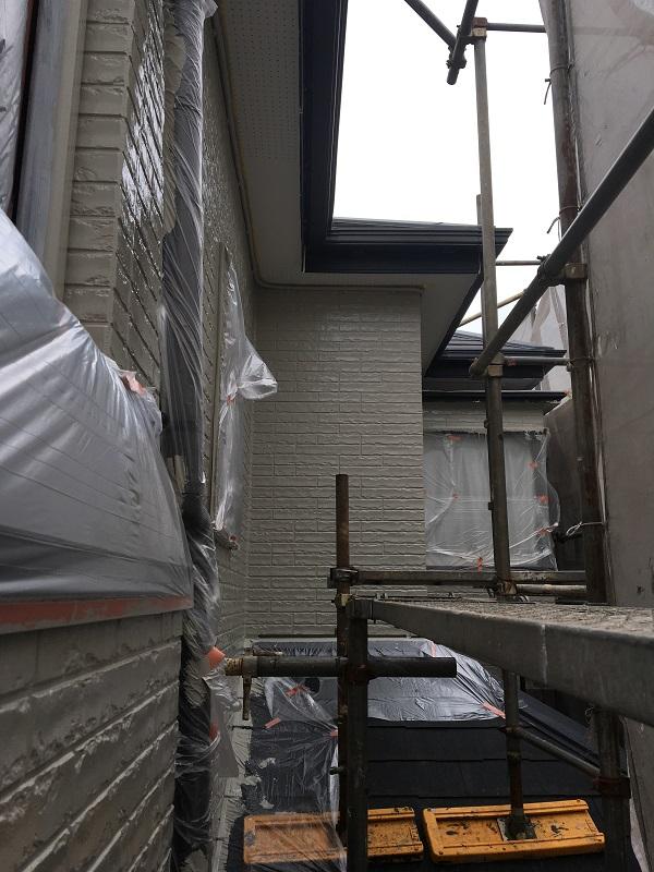 大阪府堺市 外壁塗装 下地調整 養生 外壁塗装の際の注意事項
