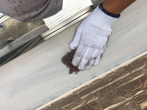 大阪府堺市 外壁塗装 下地調整 ひび割れ補修 サビ補修