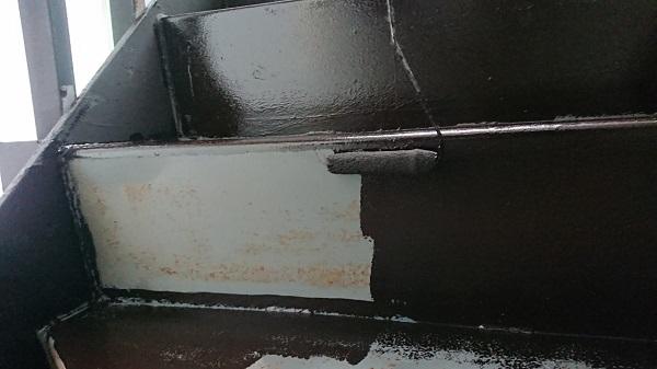 大阪府堺市 外壁塗装 付帯部塗装 階段塗装 下地処理 アステック リファイン1000
