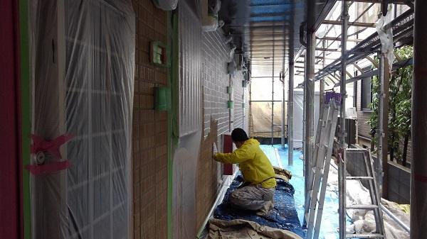 大阪府堺市 外壁塗装 屋根塗装 アパート塗装 超低汚染形無機塗料プレマテックス「タテイル アルファ」