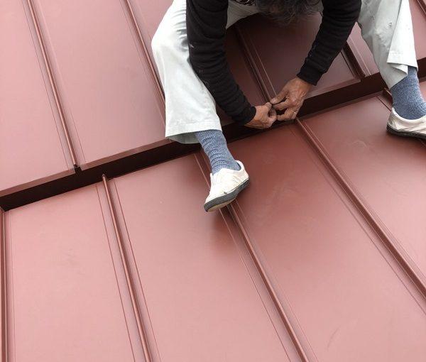 大阪府堺市 屋根工事 屋根カバー工法(重ね葺き工事) ガルバリウム鋼板