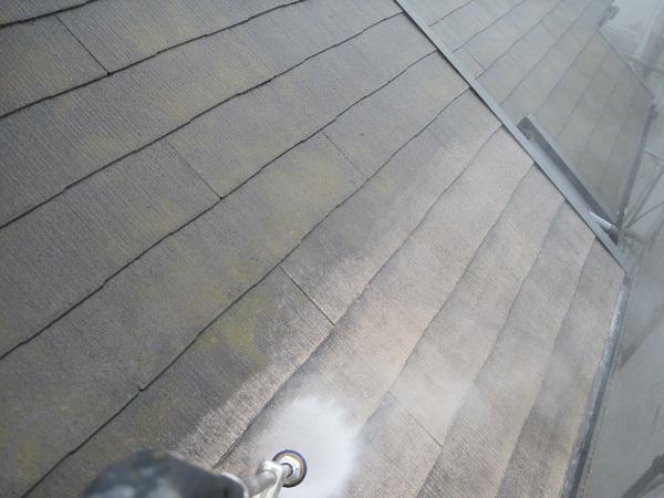 大阪府堺市 外壁塗装、屋根塗装 下地処理 高圧洗浄