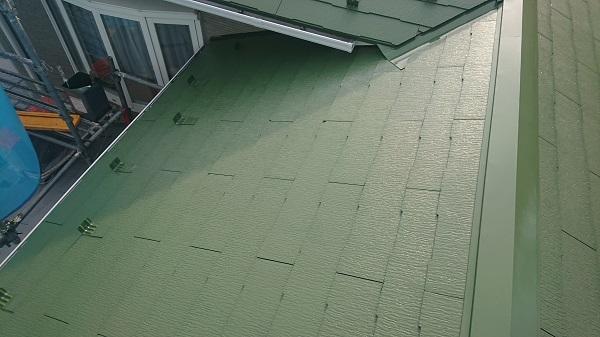 大阪府堺市 屋根塗装 中塗り 上塗り 遮熱塗料 水谷ペイント 快適サーモ