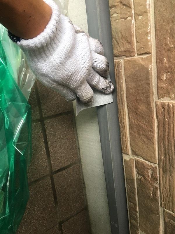 大阪府堺市 屋根塗装 外壁塗装 下地処理 ケレン作業