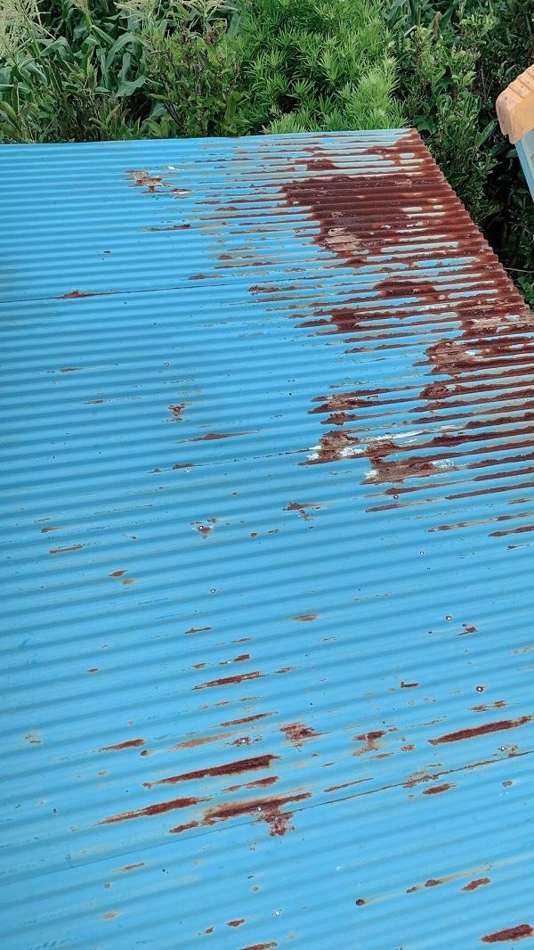 大阪府堺市 屋根塗装 折板屋根 事前調査 シーリングの硬化