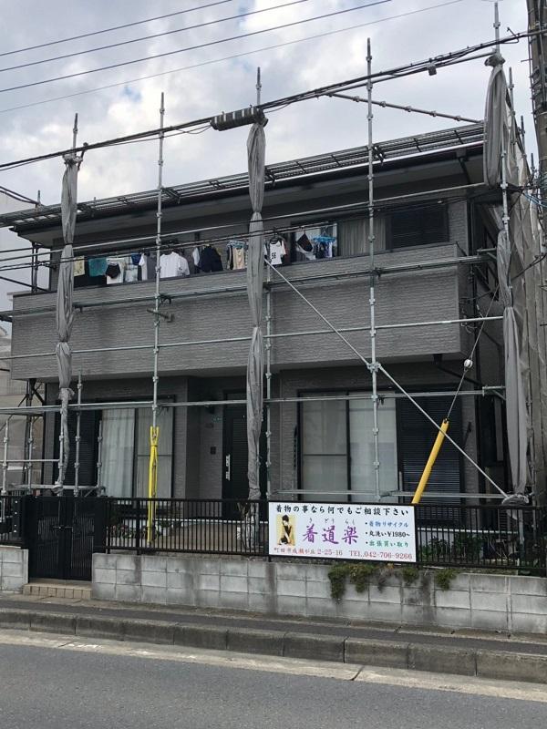 大阪府堺市 外壁塗装 屋根塗装 付帯部塗装 足場設置 飛散防止ネット