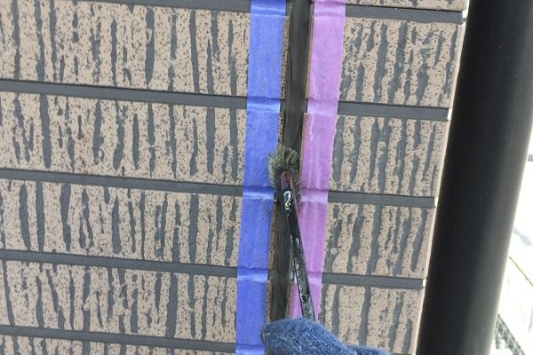 大阪府堺市 外壁塗装 下地処理 コーキング(シーリング工事) オートンイクシード