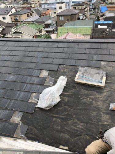 スレート屋根補修の画像