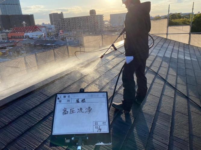 屋根高圧洗浄の画像