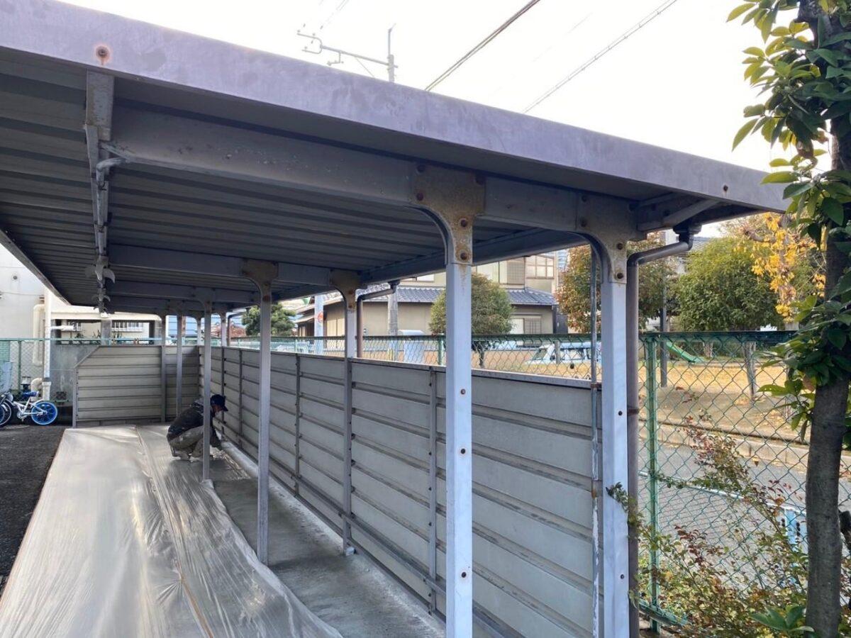 駐輪場施工前の画像