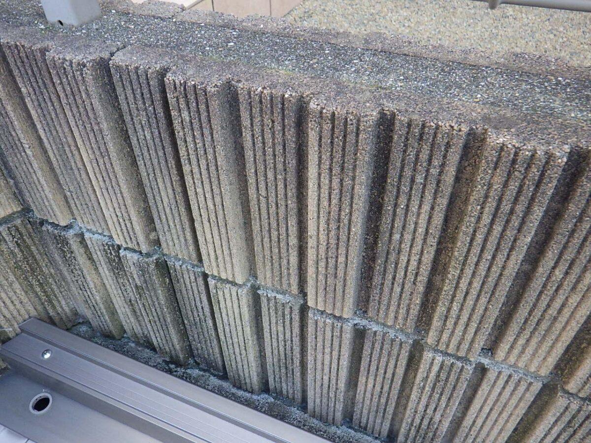 施工前コンクリートブロックの画像