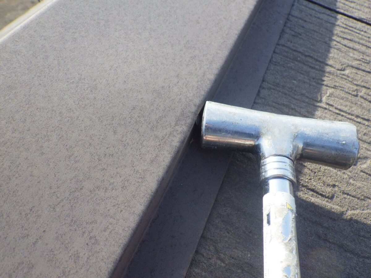 屋根板金の補修の画像