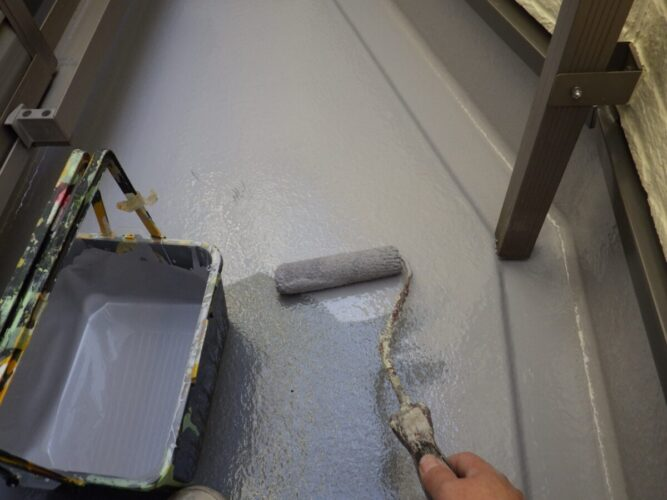 FRP防水トップコート塗装の画像