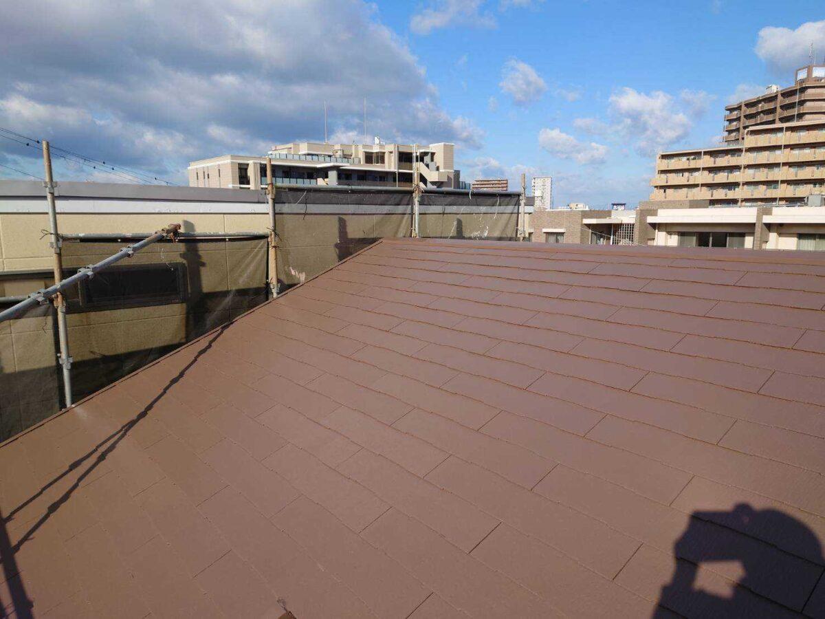 屋根塗装後の画像