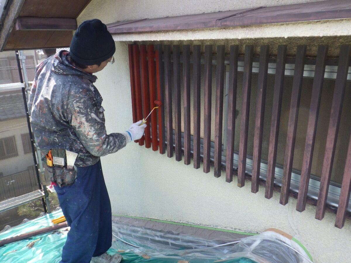 木格子塗装の画像