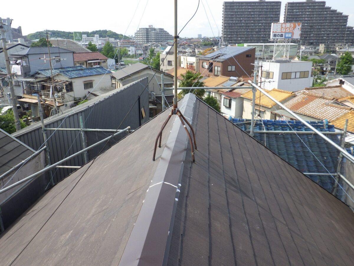 屋根 コーキング後