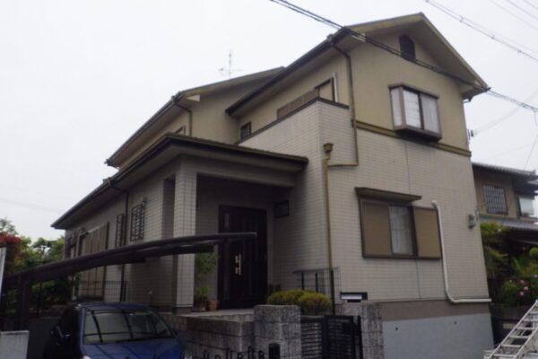 大阪府狭山市 外壁・屋根塗装工事 ベランダ手すり壁補修 S様邸